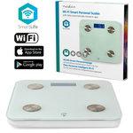 Personenweegschaal - Nedis SmartLife (Wifi, 8 personen, Gehard glas)Meet je BMI-, vet-, spier-, water- en eiwitgehalte