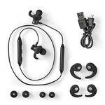 Sport Oordopjes   Bluetooth   In-Ear   Flexibele Kabel   Zwart