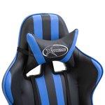 Gamingstoel / Bureaustoel met voetensteun - Blauw
