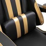 Gamingstoel / Bureaustoel met voetensteun - Goud / zwart