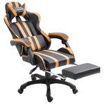 Gamingstoel / Bureaustoel met voetensteun - Oranje / Zwart