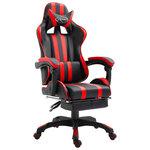 Gamingstoel / Bureaustoel met voetensteun - Rood - In 7 verschillende kleuren leverbaar