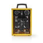 Ventilatorkachel Industrieel Design | Thermostaat | 3 Standen | 2000 W | Geel