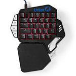 Single-Handed Gamingkeyboard | RGB-Verlichting | 33 Programmeerbare Toetsen