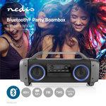 Party Boombox   3 Uur Speeltijd   Bluetooth® Draadloze Technologie   FM-Radio   Party-Verlichting   Zwart