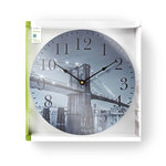 Ronde wandklok | Diameter 30 cm | Brooklyn Bridge-afbeelding