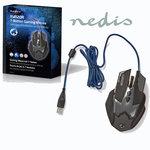 Gaming-muis | Met kabel | Verlicht | 2400 dpi | 7 knoppen