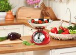 Retro Keukenweegschaal | Analoog | Metaal | Rood of zwart