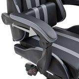 Gamingstoel / Bureaustoel met voetensteun - Groen / Zwart_