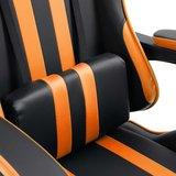 Gamingstoel / Bureaustoel met voetensteun - Oranje / Zwart_