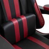 Gamingstoel / Bureaustoel met voetensteun - Wijnrood / Zwart_