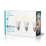 Wi-Fi Smart LED-Lamp | Warm Wit | E27 | 3-Pack_