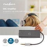 DAC Versterker | Voor Koptelefoons | SNR 95 dB | HDR 90 dB | Tot 24 Uur Speeltijd | Metaal_