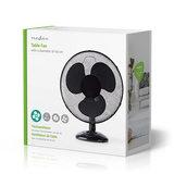 Tafelventilator - Minimaal geluid - Diameter 40 cm - 3 snelheden - Oscillatiefunctie - Zwart_