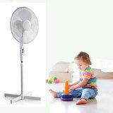 Staande ventilator - Minimaal geluid - Instelbare hoogte - Diameter 40 cm - 3 snelheden - Oscillatiefunctie - Wit_
