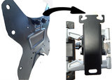 Makkelijk afneembare muurbeugel - Aluminium - (Draai, zwenk en kantelbaar, Max. 30 kg)_