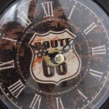 Tafelklok Gitaar 35cm - Route 66 - Groen grijs - metaal_