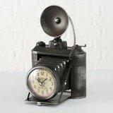 Tafelklok industriële camera - H33cm 1xAA 1,5V - metaal zwart_
