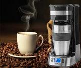 1-Kops Koffiezetapparaat - Dubbelwandige Reisbeker - 0,42 L - Timer_