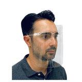 Spatmasker voor gezicht- Gezichtsbescherming met Bril- Gelaatsscherm met Bril_