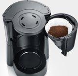 Koffiezetapparaat - Dark Inox - 10 Kops - 1.25 liter - Gelakte roestvrijstalen behuizing. _