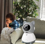 Smart WiFi Indoor IP-camera - Bewegingssensor Kantelen - Draaien en Volgen - Full HD - Klimaatsensor_