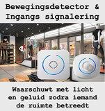 Bewegingsmelder en ingangs-signalering - Tevens ruimte alarm / beveiliging_