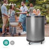 Party Cooler - 30 Liter - Regelbare thermostaat - Glazen top - Handige draadmand - Zwenkwielen_
