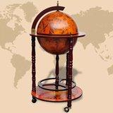 Elegante Globebar in de vorm van een wereldbol - eucalyptushout_