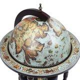 Elegante Globebar in de vorm van een wereldbol - eucalyptushout - Wood Blue_