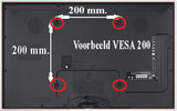 "Vaste TV-muurbeugel | 37 - 70"" | Max. 35 kg | 23 mm wandafstand_"