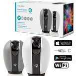 Beveiligingscamera - Nedis SmartLife (Wifi, HD, Draaifunctie, 10 meter nachtzicht, Binnen)Verwisselbare cover!