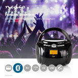 Boombox | 9 W | Bluetooth® | CD-speler / FM-Radio / USB / AUX | Zwart