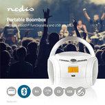 Boombox | 9 W | Bluetooth® | CD-speler / FM-Radio / USB / AUX | Wit