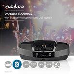 Boombox | 12 W | Bluetooth® | CD-speler / FM-Radio / USB / AUX | Zwart