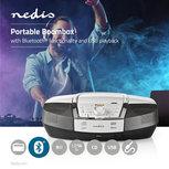 Boombox | 12 W | Bluetooth® | CD-speler / FM-Radio / USB / AUX | Wit