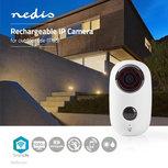 Oplaadbare IP-Camera | voor Buiten | PIR Bewegingssensor | microSD | 6000 mAh