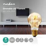 Dimbare vintage LED-gloeilamp E27 | A60 | 3 W | 100 lm - Mooi warm licht