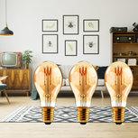 LED-Filamentlamp Retro E27 | A60 | 3 W | 120 lm | 3-Pack