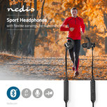 Sport Oordopjes | Bluetooth | In-Ear | Flexibele Kabel | Zwart