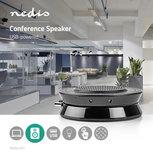 Conference Speaker | 2.5 W | Touch-Bediening | USB-Gevoed | Zwart