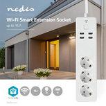 Slimme stekkerdoos - Nedis SmartLife - 3-voudig (Wifi, 4 x USB)