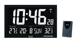 Zendergestuurde Wandklok LCD Zwart