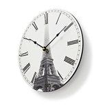 Ronde wandklok   Diameter 30 cm   Eiffeltoren-afbeelding