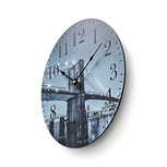 Ronde wandklok   Diameter 30 cm   Brooklyn Bridge-afbeelding