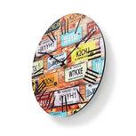 Ronde wandklok   Diameter 30 cm   Travel-thema