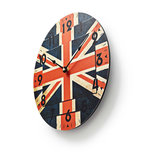 Ronde wandklok   Diameter 30 cm   Union Jack-afbeelding