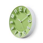 Ronde wandklok   Diameter 30 cm   Groen