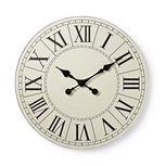Ronde wandklok   Diameter 50 cm   Eenvoudig te lezen cijfers   Zwart & wit