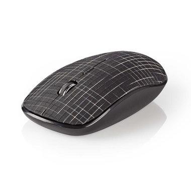 Draadloze muis | 1600 dpi | 3-knops | Zwart